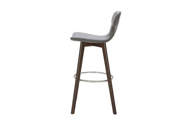 Zach Modern Eco-Leather Bar Stool Dark Gray