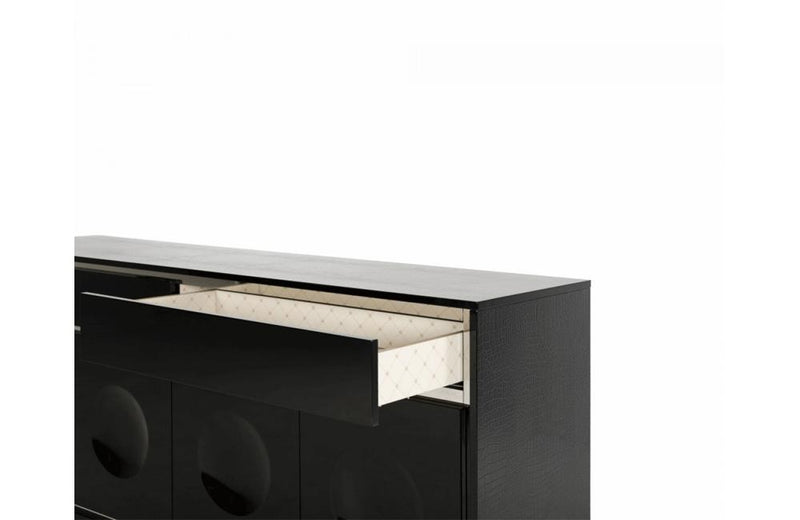 Grand Modern Black Lacquer Buffet