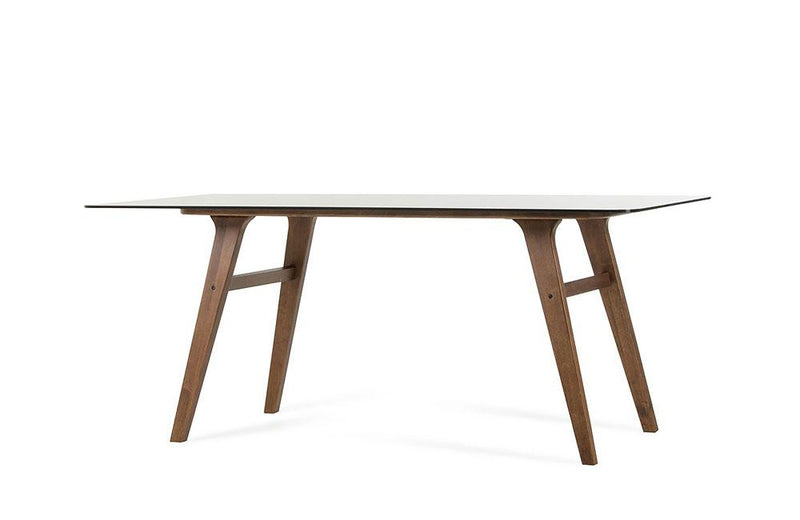 Zeppelin Modern Smoked Glass Dining Table