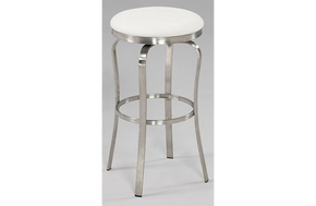 Emma Modern Backless Barstool White