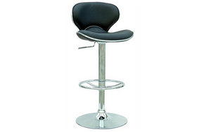 Samuel Pneumatic Swivel Stool Black