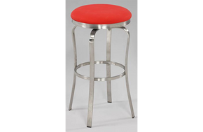 Emma Modern Backless Barstool Red