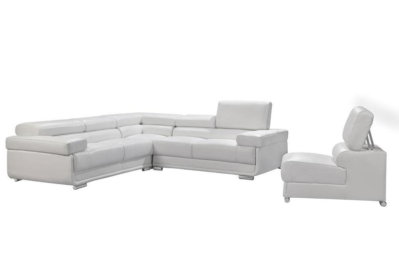 2119 White Sectional Sofa