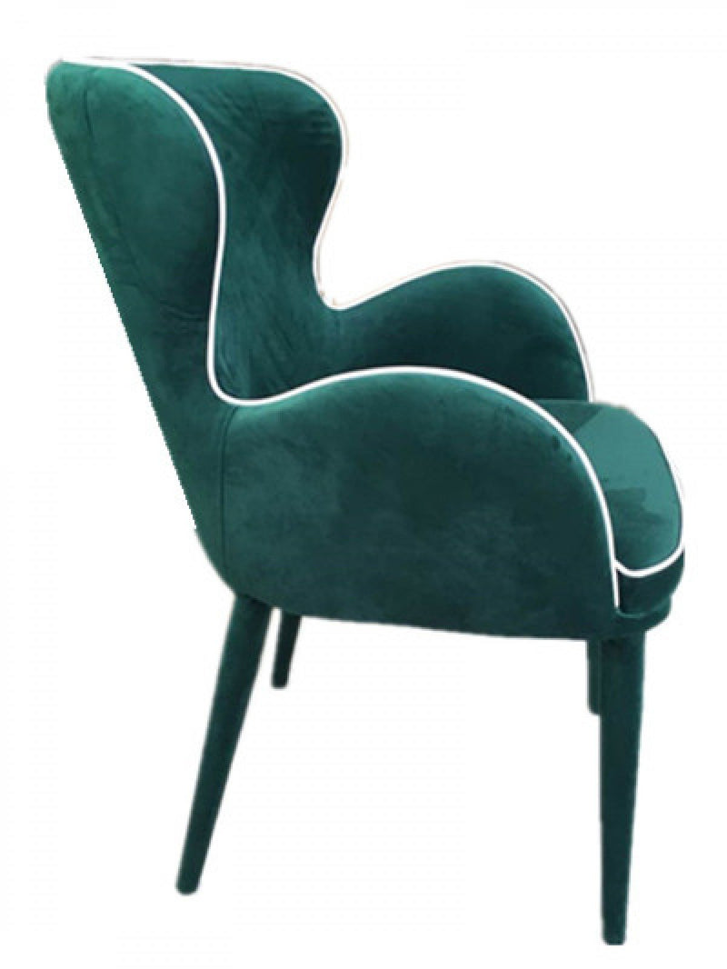 Tigard Modern Fabric Dining Chair Green