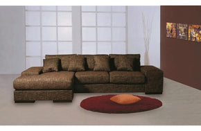Lalage Sectional Sofa Brown
