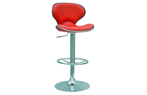Samuel Pneumatic Swivel Stool Red