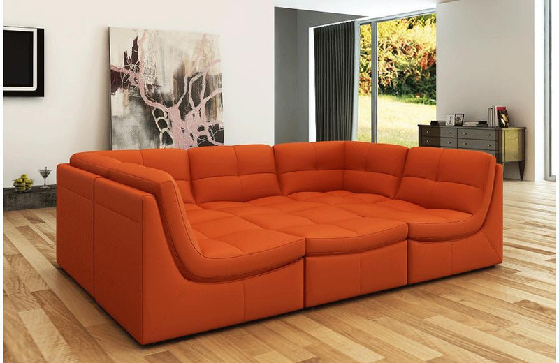 Daphne 6pc Sofa Set Orange