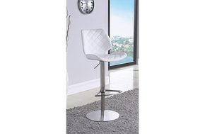 Emily Adjustable Barstool White