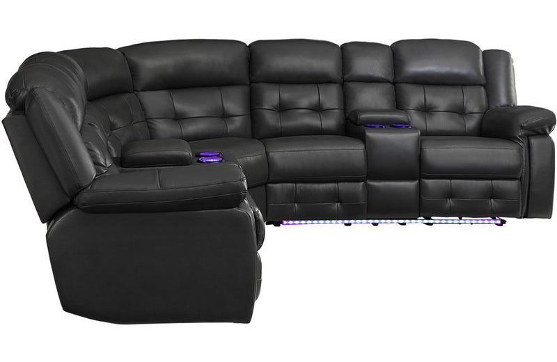 Gabby Grey Reclining Sectional Sofa