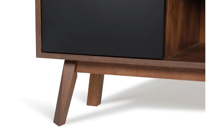 Laken Modern Walnut & Black Buffet
