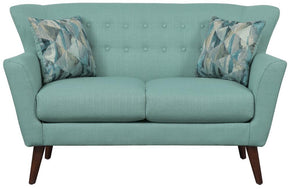 Rory Teal Love Seat