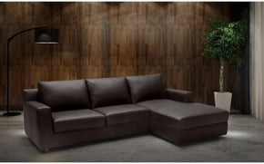 Taylor Brown Leather Sectional Sleeper