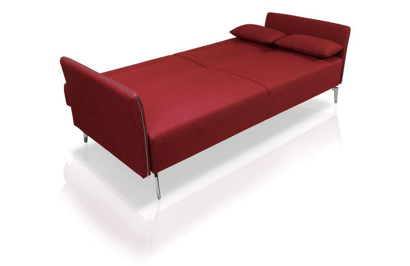 Davenport Modern Fabric Sofa Bed Red