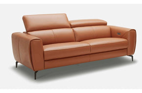 Scuzzo Caramel Reclining Leather Loveseat