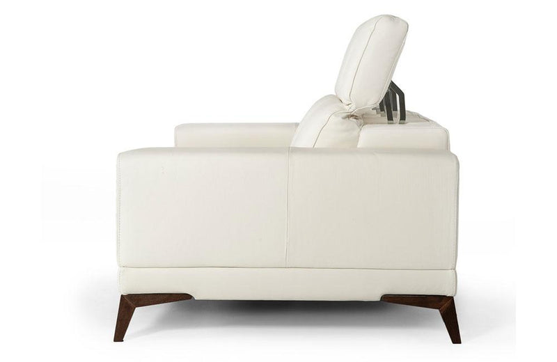 Bolton Italian Modern White Leather 3 PC Sofa Set
