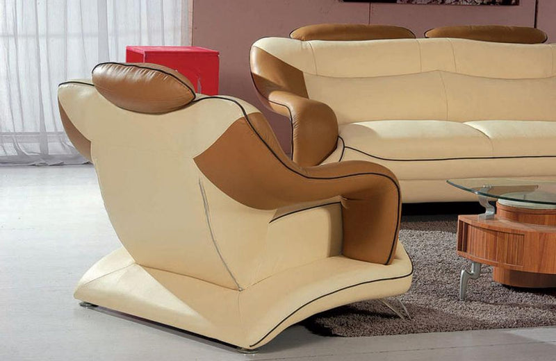 Fernanda Modern Bonded Leather Sofa Set
