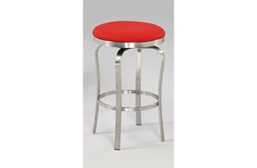 Emma Modern Backless Counter Stool Red