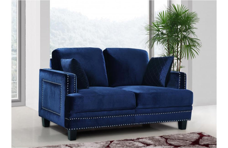 Cliff Navy Love Seat
