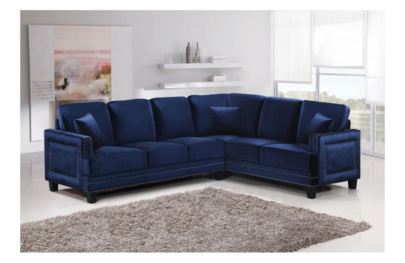 Cliff Navy Sectional Sofa