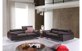 A973 Premium Brown Leather Sofa Set