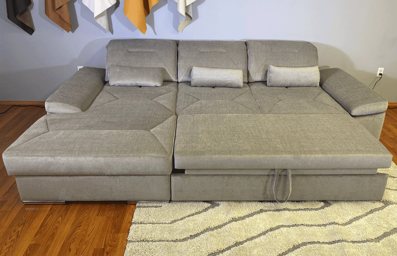 Alpine-X Functional Sectional in Silver Gray