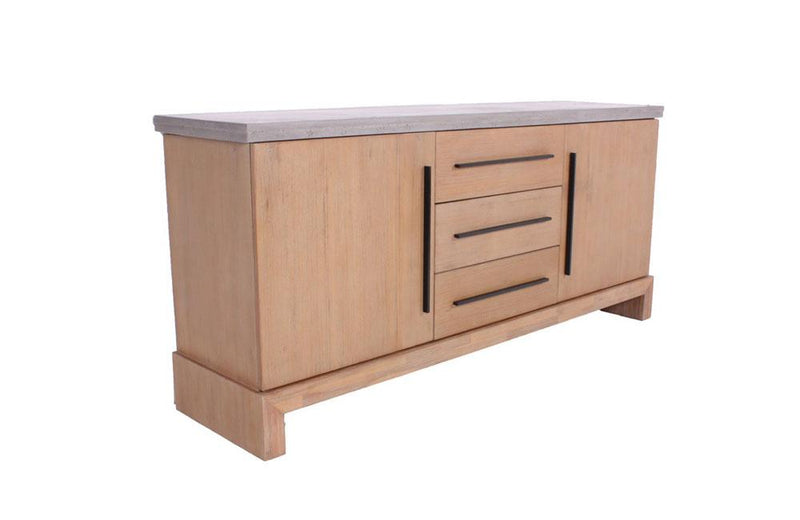 Civic Modern Concrete & Acacia Buffet