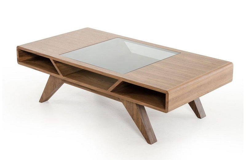 Soria Modern Walnut Coffee Table