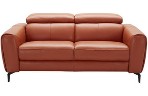 Cooper Modern Leather Loveseat