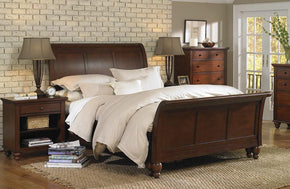 Cambridge Sleigh Bed Brown Cherry