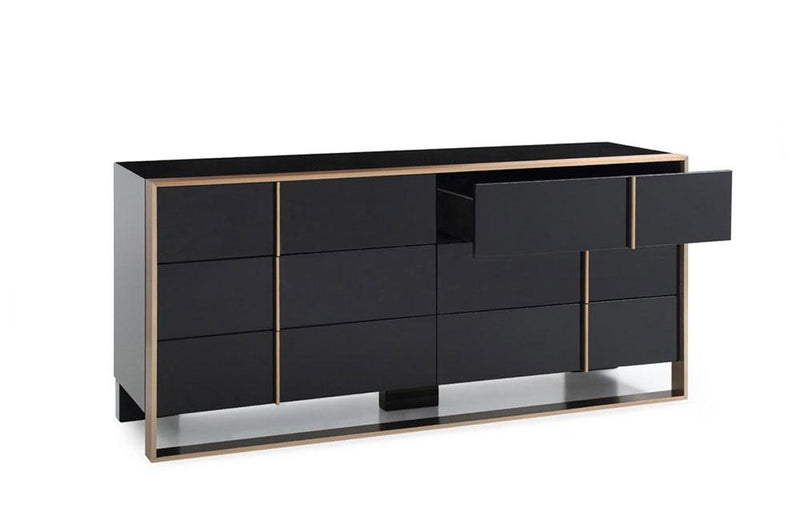 Cartier Modern Black & Brushed Bronze Dresser