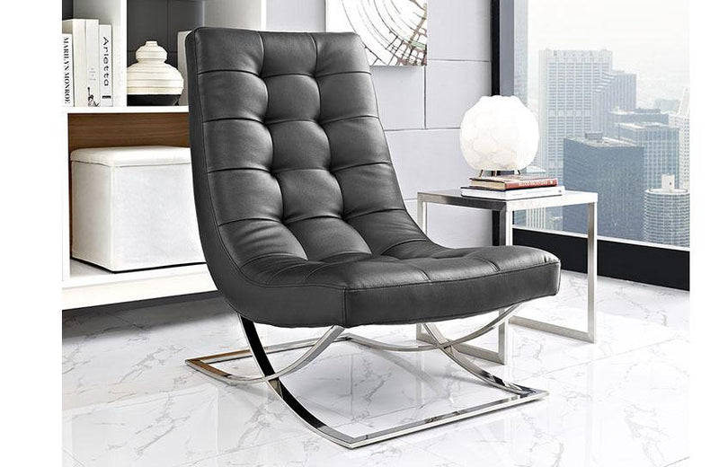 Everett Upholsterd Vinyl Lounge Chair