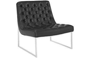 Simon Upholsterd Vinyl Lounge Chair