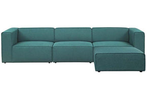Danielle Mingle 4 Piece Upholstered Fabric Sectional Sofa Set