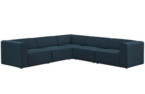 Mikayla Mingle 5 Piece Upholstered Fabric Sectional Sofa Set