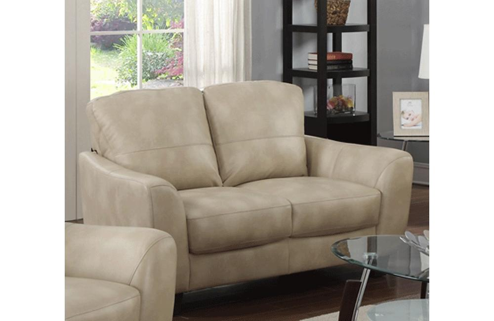 Remarkable Santuzza Leather Loveseat Bralicious Painted Fabric Chair Ideas Braliciousco