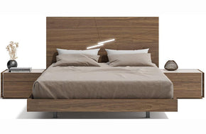 Ives Walnut with Light Grey Bed