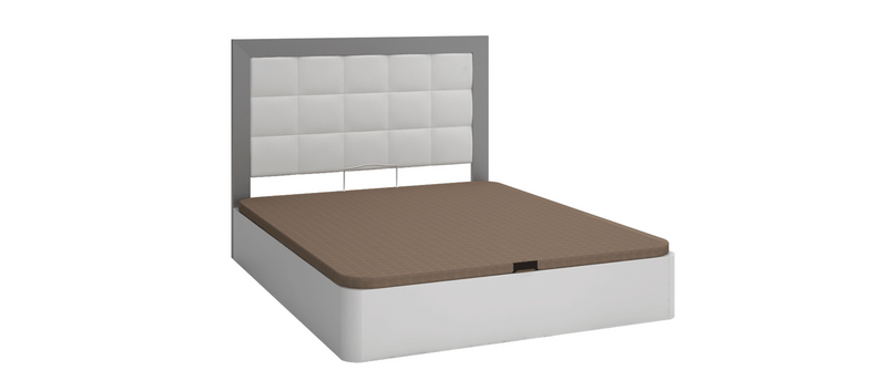 Magdalena Twin Size / Full size Storage Bed White & Grey