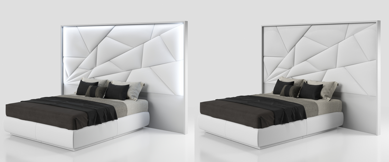 Mystery Bed w/light and Kianty cases White Color