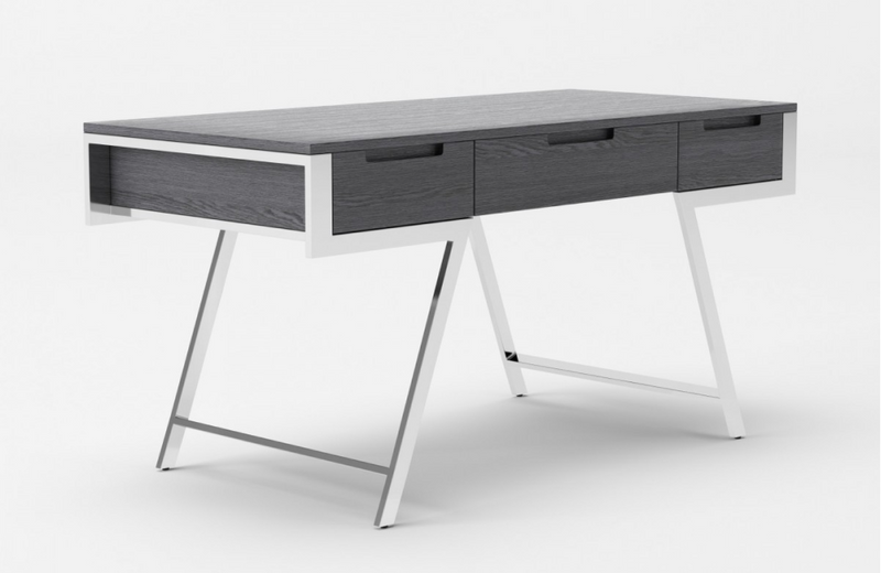 Denton - Modern Elm Grey Office Desk