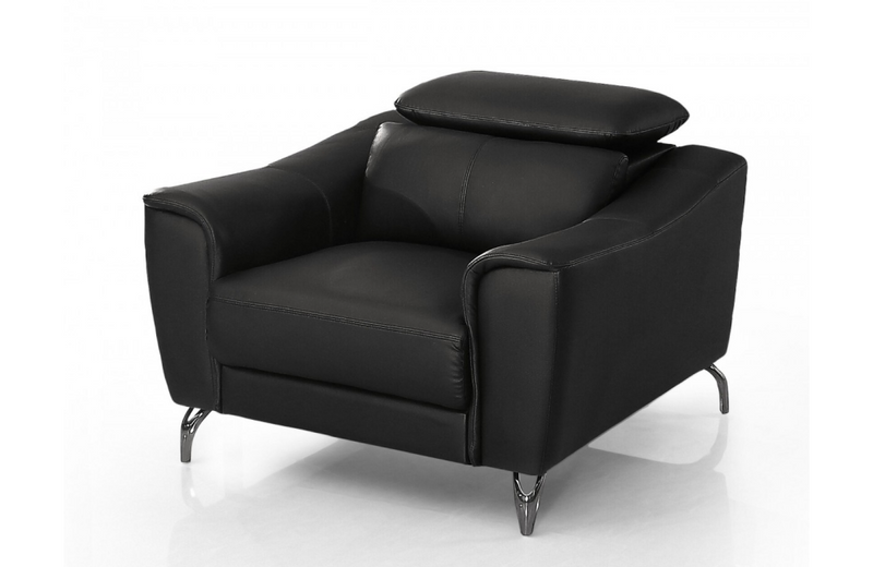 Dalyla - Modern Black Leather Chair