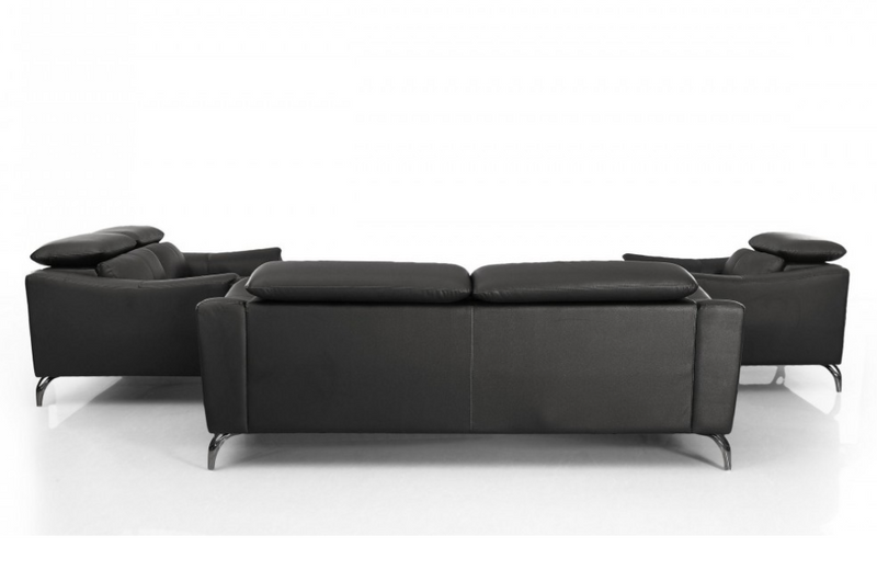 Dalyla - Modern Black Leather Sofa Set