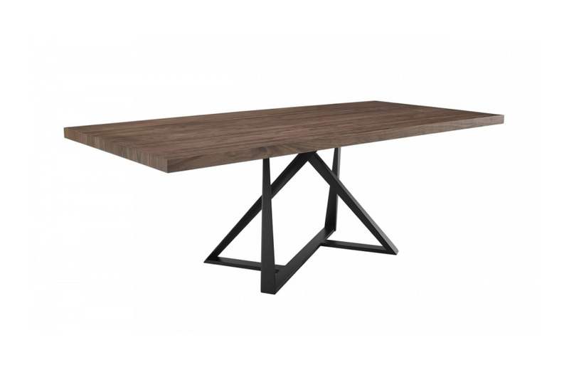 Kamalia - Modern Industrial Walnut & Black Dining Table