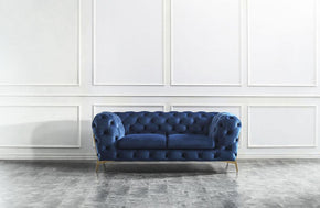 Richard Blue Loveseat