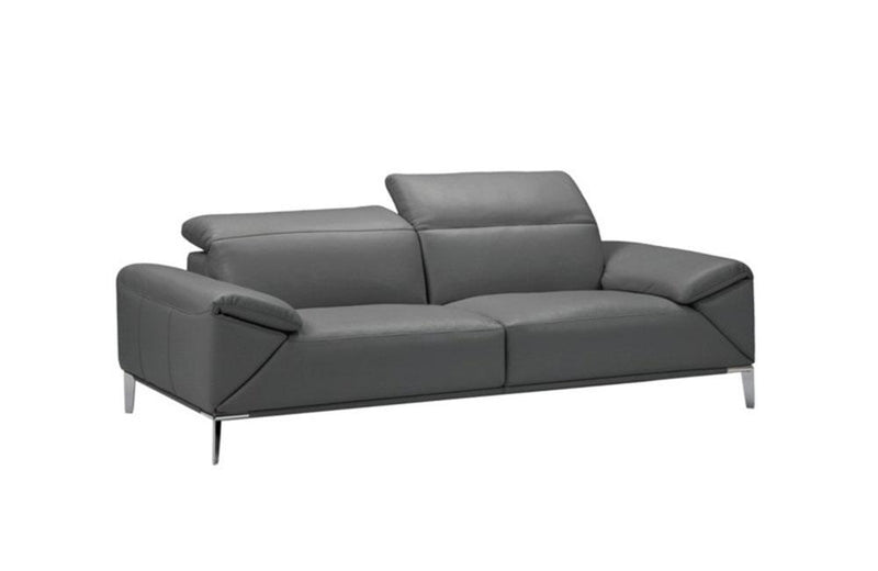 Greta Modern Leather Loveseat