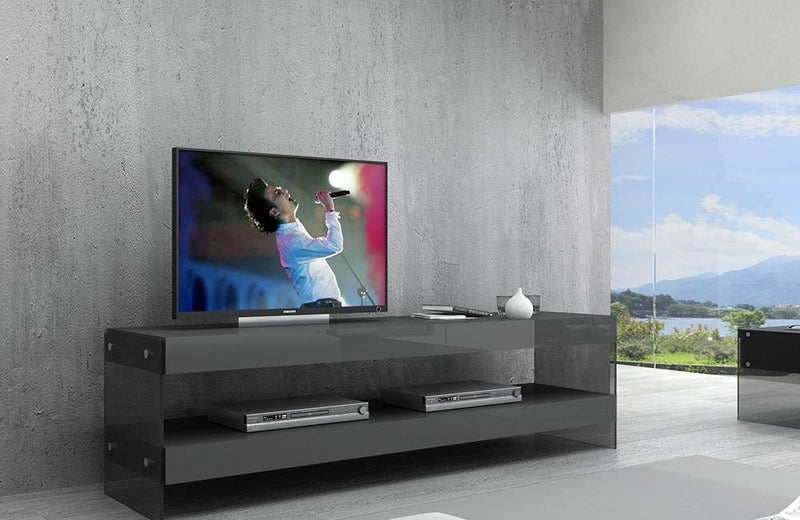 Terry Grey Cloud TV Base in High Gloss