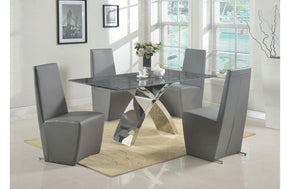 Abasi and Oba Gray 5 PC Dining Set