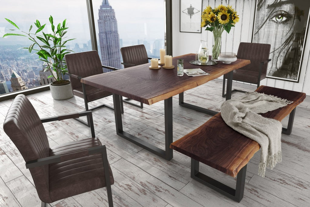Jace Modern Live Edge Wood Dining Table
