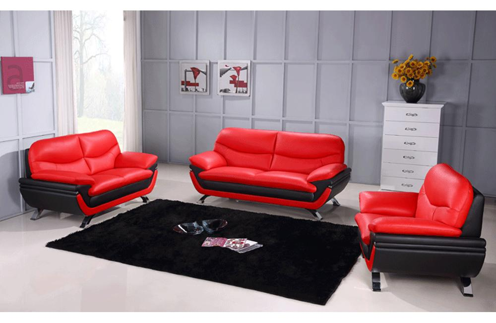 Awe Inspiring Makarios 3Pc Living Room Set Red Pabps2019 Chair Design Images Pabps2019Com
