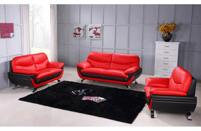 Makarios 3PC Living Room Set Red