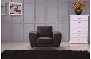 Torri Black Leather Chair Black